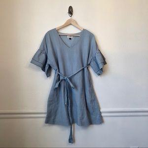 UNIVERSAL THREAD   Dusty Blue Ruffle Sleeve Dress